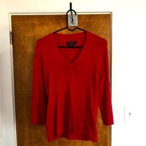 Dana Buchanan Stretchy Red Sweater